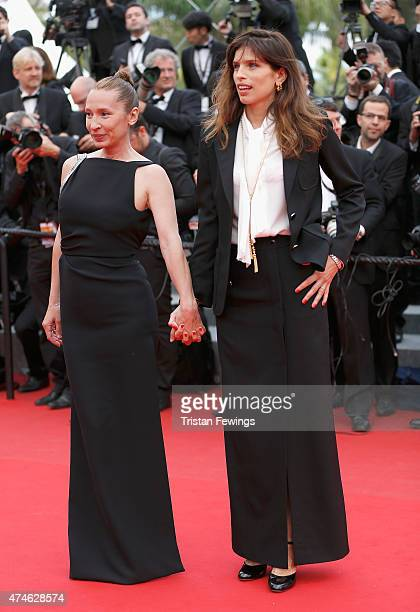 Emmanuelle Bercot and Maiwenn attend the closing ceremony and Premiere of 'La Glace Et Le Ciel' during the 68th annual Cannes Film Festival on May 24...