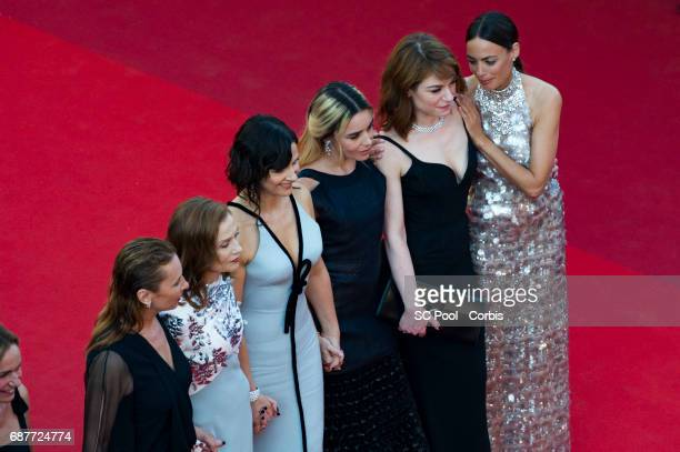 Emmanuelle Bercot Berenice Bejo Elodie Bouchez Isabelle Huppert Emilie Dequenne and Juliette Binoche attend the 70th Anniversary of the 70th annual...