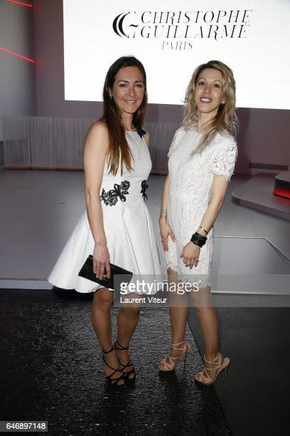 Emmanuelle Boidron and Tristane Banon attend the Christophe Guillarme show as part of the Paris Fashion Week Womenswear Fall/Winter 2017/2018 on...