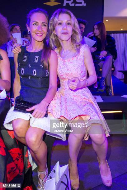 Emmanuelle Boidron and Tristane Banon attend the Christophe Guillarme show as part of the Paris Fashion Week Womenswear Spring/Summer 2018 on...