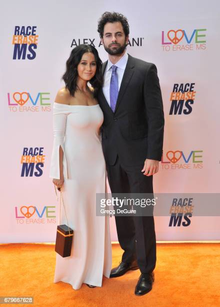 Emmanuelle Chriqui and Adrian Bellani arrive at the 24th Annual Race To Erase MS Gala at The Beverly Hilton Hotel on May 5 2017 in Beverly Hills...