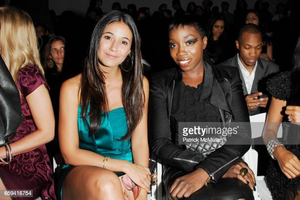 Emmanuelle Chriqui and Estelle attend VIVIENNE TAM Spring/Summer 2010 Collection at The Promenade on September 12 2009 in New York City