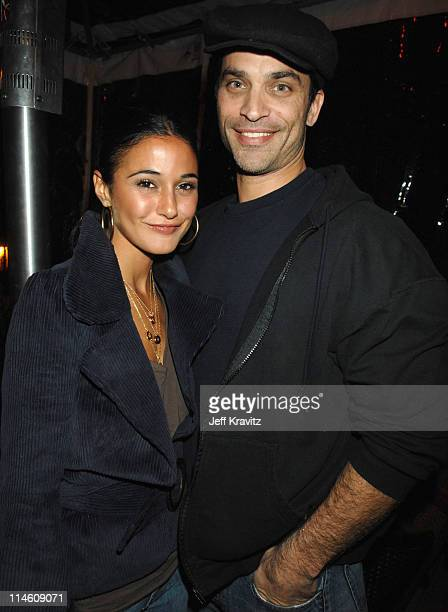 Emmanuelle Chriqui and Johnathon Schaech during HBO 2007 PreGolden Globes Party at Chateau Marmont in Los Angeles California United States
