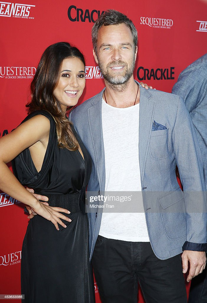 <a gi-track='captionPersonalityLinkClicked' href=/galleries/search?phrase=Emmanuelle+Chriqui&family=editorial&specificpeople=541098 ng-click='$event.stopPropagation()'>Emmanuelle Chriqui</a> (L) and JR Bourne arrive at the Crackle Original Series' 'Cleaners' and 'Sequestered' Summer premiere celebration held at 1 OAK on August 14, 2014 in West Hollywood, California.