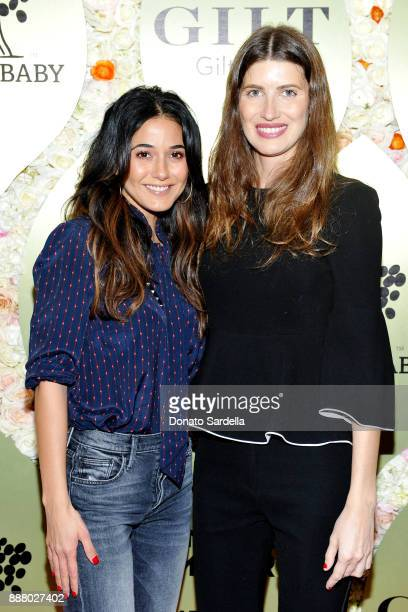 Emmanuelle Chriqui and Michelle Alves O'Seary at Giltcom Jennifer Meyer Jenna Dewan Tatum's Exclusive Jewelry Collection Launch Benefitting Baby2Baby...