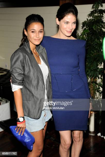 Emmanuelle Chriqui and Michelle Monaghan attend THE CINEMA SOCIETY HUGO BOSS host the after party for 'INGLOURIOUS BASTERDS' at The Standard Hotel on...