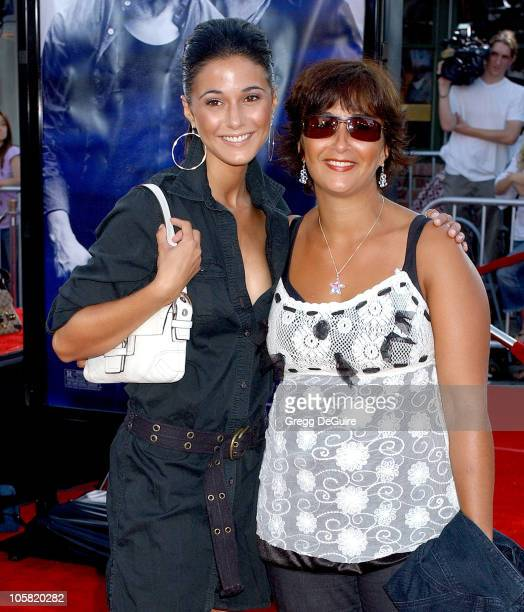 Emmanuelle Chriqui and sister during 'Miami Vice' Los Angeles Premiere Arrivals at Mann Village in Westwood California United States