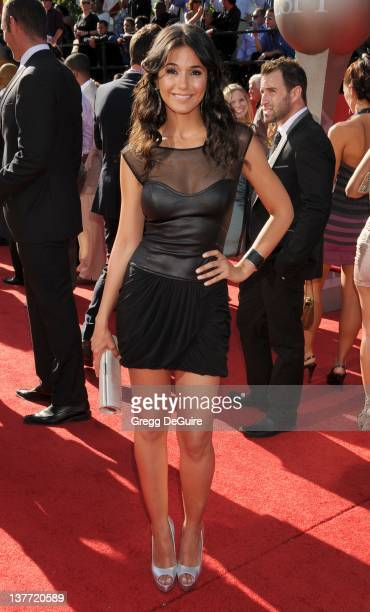 Emmanuelle Chriqui arrives at the 2010 ESPY Awards at the Nokia Theatre LA Live on July 14 2010 in Los Angeles California