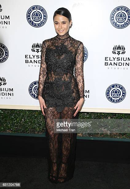 Emmanuelle Chriqui arrives at The Art of Elysium celebrating the 10th Anniversary held at Red Studios on January 7 2017 in Los Angeles California