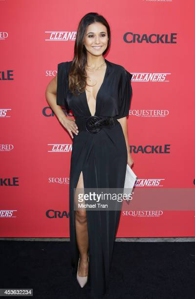 Emmanuelle Chriqui arrives at the Crackle Original Series' 'Cleaners' and 'Sequestered' Summer premiere celebration held at 1 OAK on August 14 2014...