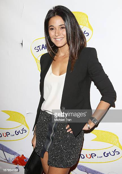Emmanuelle Chriqui arrives at the 'Stand Up For Gus' benefit event held at Bootsy Bellows on November 13 2013 in West Hollywood California