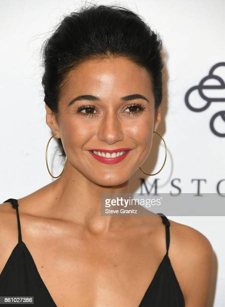 Emmanuelle Chriqui arrives at the Variety's Power Of Women Los Angeles at the Beverly Wilshire Four Seasons Hotel on October 13 2017 in Beverly Hills...