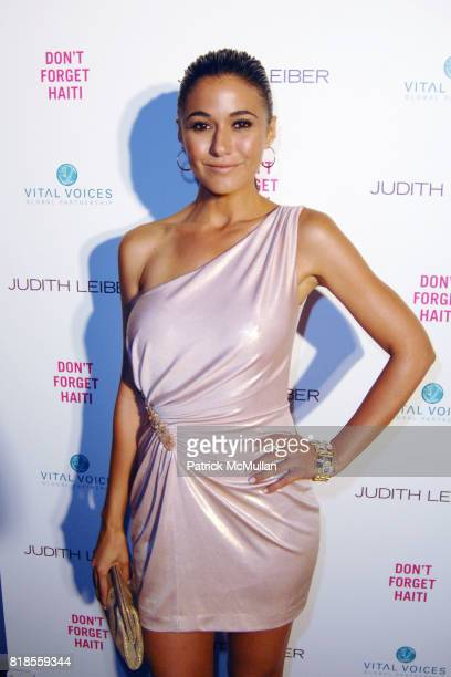 Emmanuelle Chriqui attend Maria Bello and Patricia Arquette cohost 'Don't Forget' Haiti Judith Leiber Event to Benefit Vital Voices at Judith Leiber...
