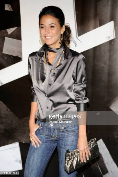 Emmanuelle Chriqui attends BURBERRY Lights Up NYC Skyline For First Time on 'BURBERRY DAY' at The New York Palace Hotel on May 28 2009 in New York