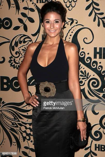 Emmanuelle Chriqui attends HBO EMMY After Party at Pacific Design Center on September 20 2009 in West Hollywood California