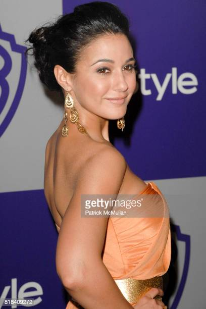 Emmanuelle Chriqui attends INSTYLE and WARNER BROS Golden Globes After Party at Oasis Courtyard on January 17 2010 in Beverly Hills California