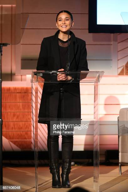 Emmanuelle Chriqui attends the EMA Impact Summit at Montage Beverly Hills on March 24 2017 in Beverly Hills California