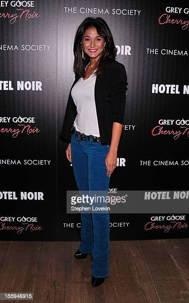 Emmanuelle Chriqui attends the Gato Negro Films And The Cinema Society Host A Screening Of 'Hotel Noir' at Crosby Street Hotel on November 9 2012 in...