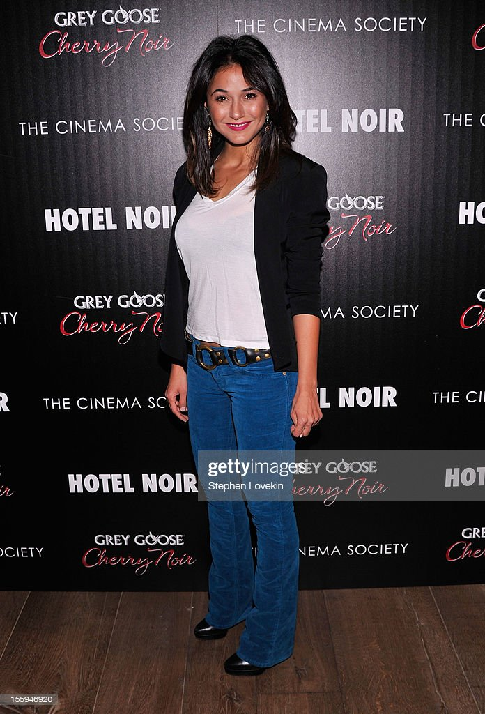 Emmanuelle Chriqui attends the Gato Negro Films And The Cinema Society Host A Screening Of 'Hotel Noir' at Crosby Street Hotel on November 9, 2012 in New York City.