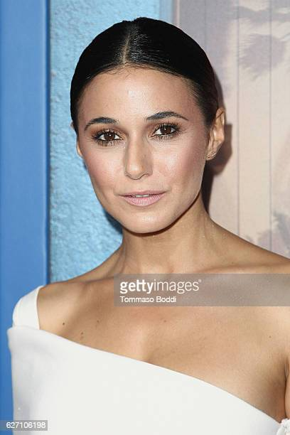 Emmanuelle Chriqui attends the premiere of Hulu's 'Shut Eye' at ArcLight Hollywood on December 1 2016 in Hollywood California