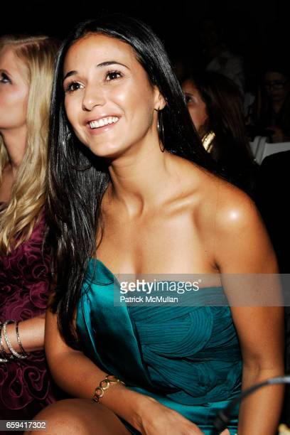 Emmanuelle Chriqui attends VIVIENNE TAM Spring/Summer 2010 Collection at The Promenade on September 12 2009 in New York City