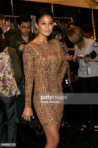 Emmanuelle Chriqui attends YIGAL AZROUEL Women's and Men's Wear Presentation at Promenade on September 11 2009 in New York City
