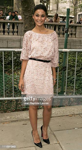Emmanuelle Chriqui during Olympus Fashion Week Spring 2007 Seen at Bryant Park Day 4 at Bryant Park in New York City New York United States