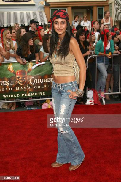 Emmanuelle Chriqui during 'Pirates of the Caribbean Dead Man's Chest' Los Angeles Premiere Arrivals at Main Street USA Disneyland in Anaheim...