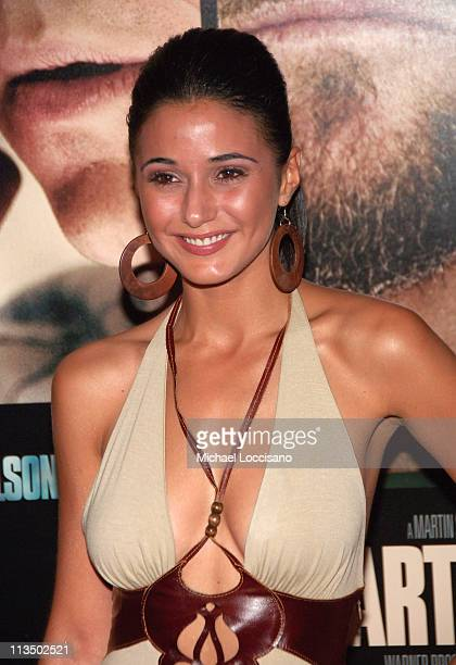 Emmanuelle Chriqui during 'The Departed' New York City Premiere at Ziegfeld Theater in New York City New York United States