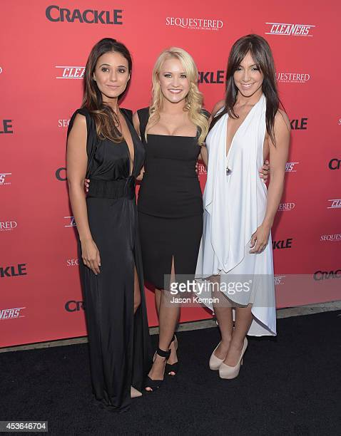 Emmanuelle Chriqui Emily Osment and Laura Aleman attend Crackle's Summer Premieres Event Celebrating The Launch Of 'Sequestered' And 'Cleaners'...