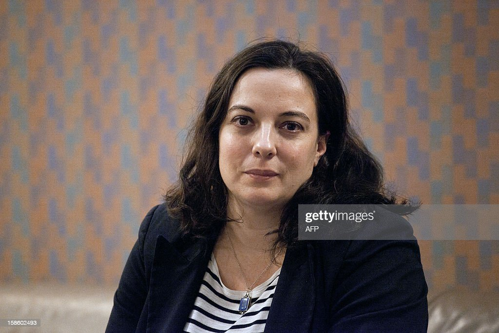 Emmanuelle Cosse (EELV) 8th vice-president in charge of housing poses after a plenary session at the Regional Council of Ile-de-France on December 20, 2012 in Paris.