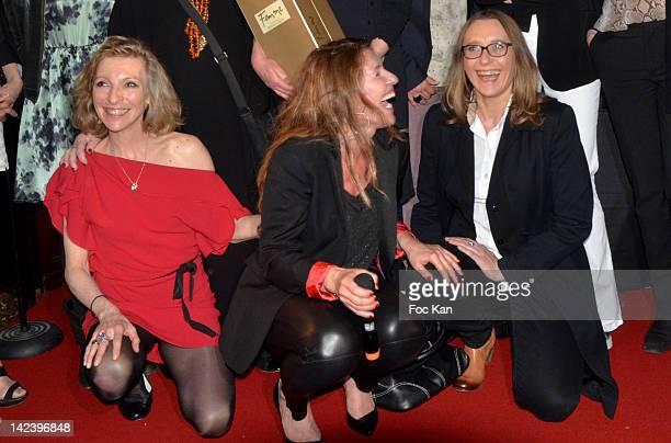 Emmanuelle de Boysson Caroline Chretiennot and Virginie Despentes attend La Closerie des Lilas Litterary Awards 2012 5th Edition at La Closerie Des...