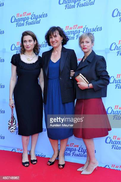 Emmanuelle Devos Anne Le Ny and Karin Viard attend the On A Failli Etre Amies Paris Premiere during Day 6 of the Champs Elysees Film Festival on June...