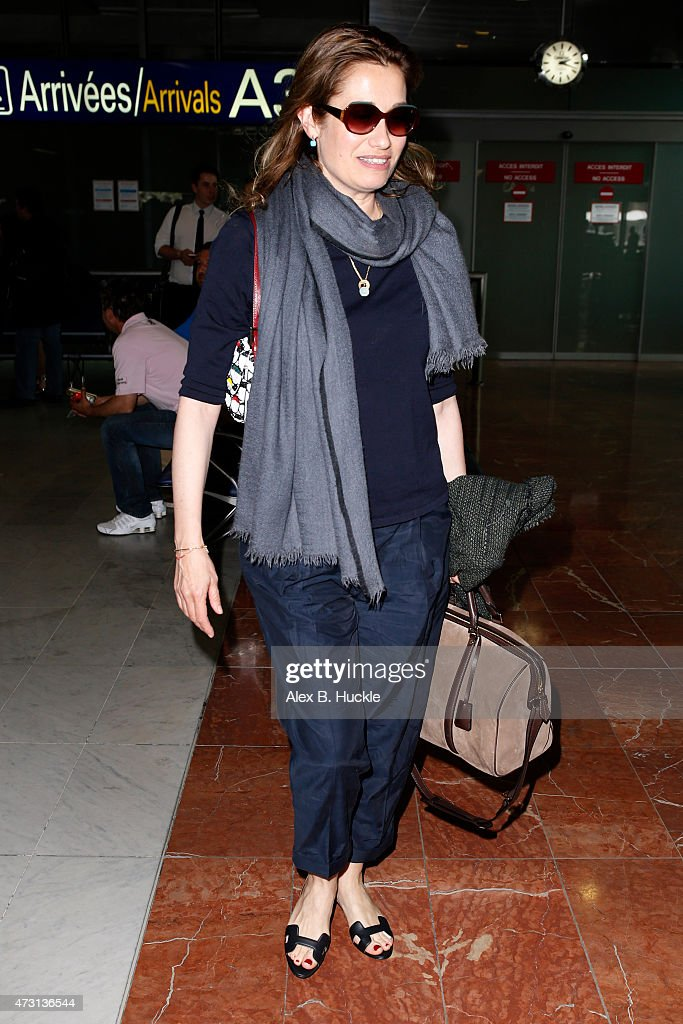 <a gi-track='captionPersonalityLinkClicked' href=/galleries/search?phrase=Emmanuelle+Devos&family=editorial&specificpeople=220367 ng-click='$event.stopPropagation()'>Emmanuelle Devos</a> arrives at Nice Airport for The 68th Annual Cannes Film Festival on May 13, 2015 in Nice, France.