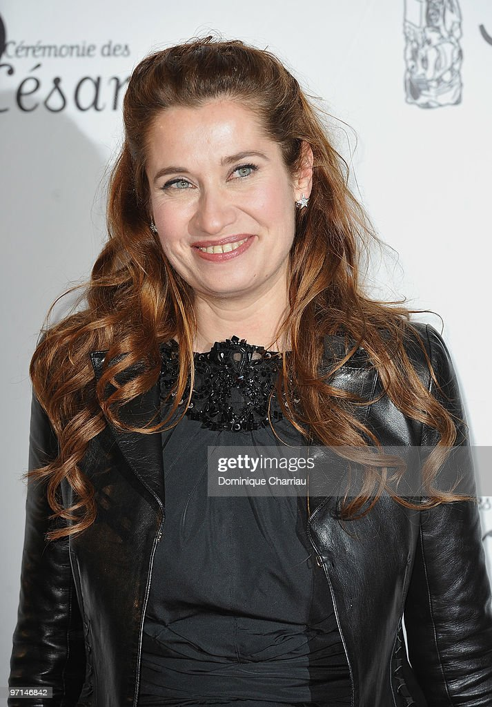 Emmanuelle Devos attends the 35th Cesar Film Awards at Theatre du Chatelet on February 27 2010 in Paris France