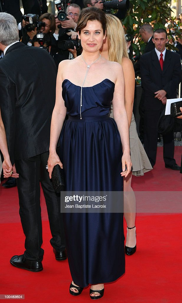 Emmanuelle Devos attends the Palme d'Or Closing Ceremony held at the Palais des Festivals during the 63rd Annual International Cannes Film Festival...