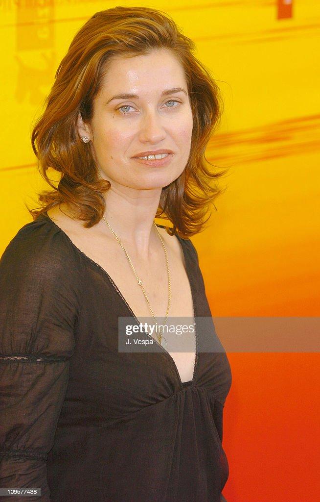 Emmanuelle Devos during 2004 Venice Film Festival 'La Femme De Gilles' Photo Call at Casino in Venice Lido Italy