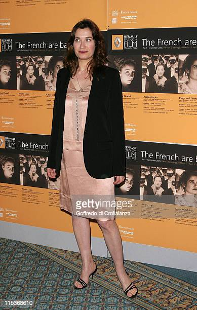 Emmanuelle Devos during The Renault French Film Season 2005 Press Launch at Institute of Directors in London Great Britain