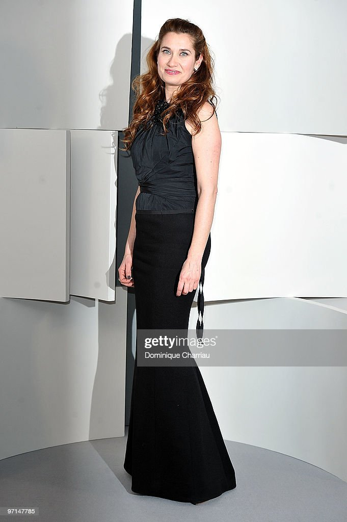 Emmanuelle Devos poses in Awards Room during 35th Cesar Film Awards at Theatre du Chatelet on February 27 2010 in Paris France