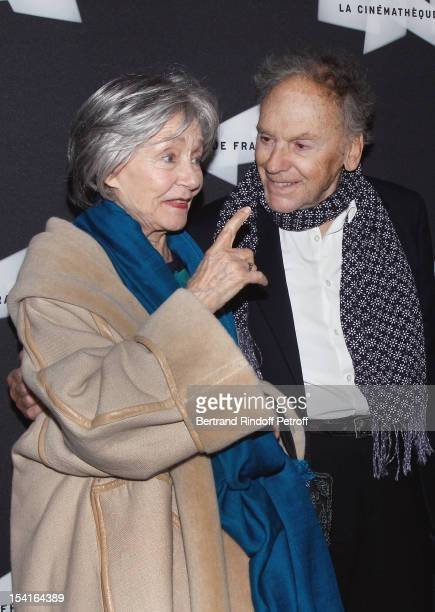 Emmanuelle Riva and JeanLouis Trintignant attend attend 'Amour' Premiere at la cinematheque on October 15 2012 in Paris France