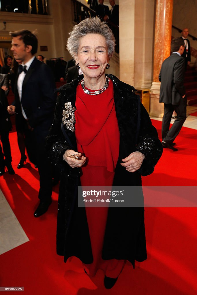 Emmanuelle Riva arrives to attend the Cesar Film Awards 2013 at Theatre du Chatelet on February 22, 2013 in Paris, France.