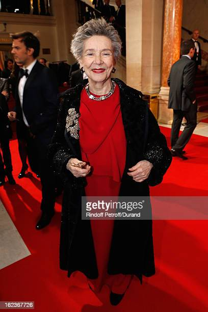 Emmanuelle Riva arrives to attend the Cesar Film Awards 2013 at Theatre du Chatelet on February 22 2013 in Paris France