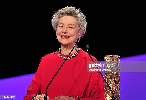 Emmanuelle Riva receives the Best Actress Cesar for 'Amour' during the 37th Cesar Film Awards Cesar Film Awards 2013 at Theatre du Chatelet on...