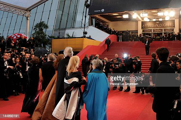 Emmanuelle Riva Susanne Haneke director Michael Haneke Isabelle Huppert and JeanLouis Trintignant and Nadine Trintignant attend the 'Amour' premiere...