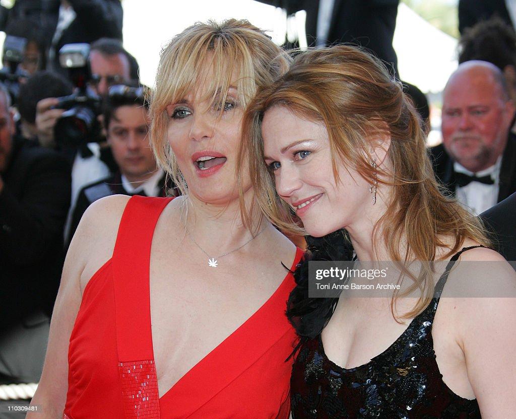 Emmanuelle Seigner and MarieJosee Croze during 2007 Cannes Film Festival Palme D'Or Arrivals at Palais des Festivals in Cannes France