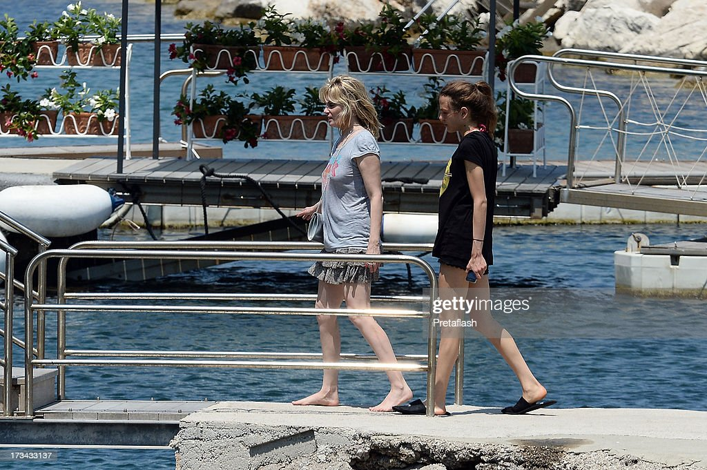 Emmanuelle Seigner and Morgane Polanski are seen at the 2013 Ischia Global Fest on July 14, 2013 in Ischia, Italy.
