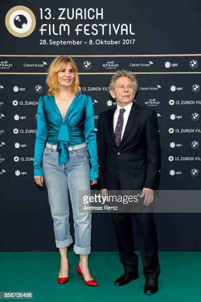Emmanuelle Seigner and Roman Polanski attends the 'D'apres une histoire vraie' premiere at the 13th Zurich Film Festival on October 2 2017 in Zurich...