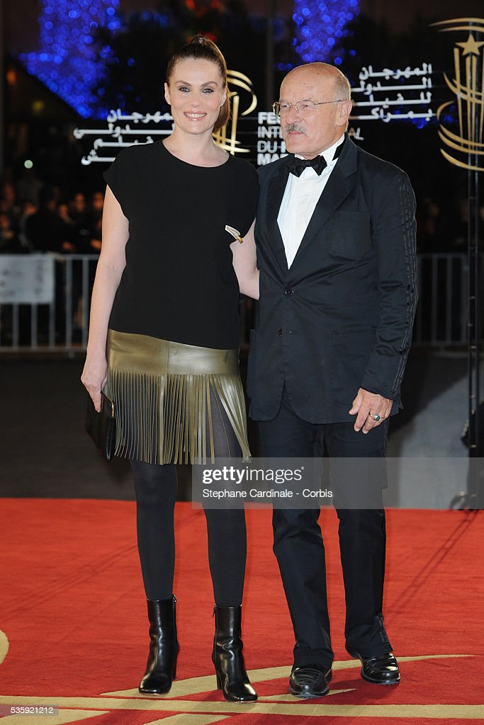Emmanuelle Seigner and Volker Schlondorff attend the Short Films Award Ceremony, during the10th Marrakech Film Festival, in Marrakech.
