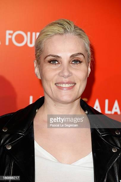 Emmanuelle Seigner attends 'La Venus A La Fourrure Venus In Fur' Premiere at Cinema Gaumont Marignan on November 4 2013 in Paris France