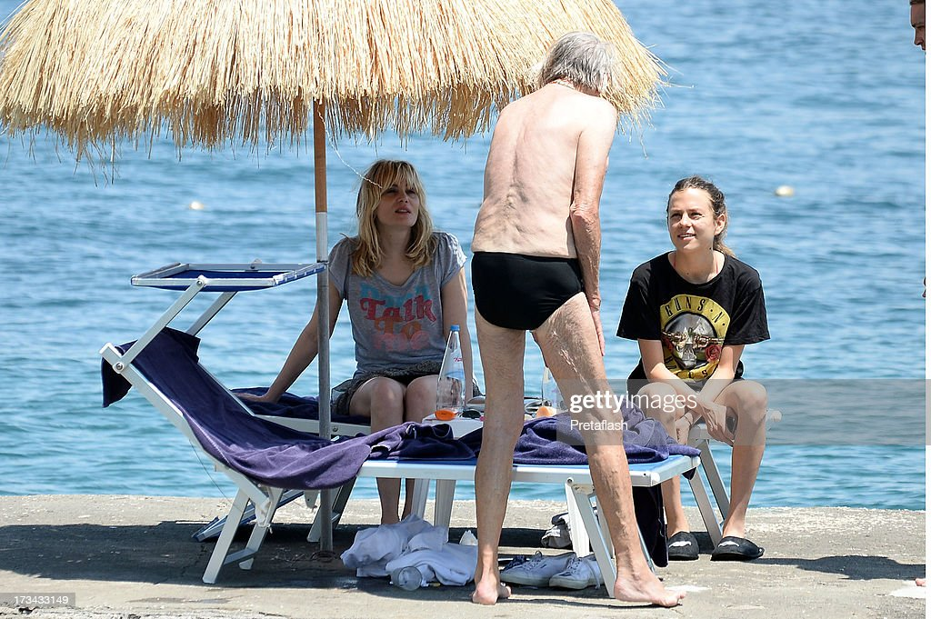 Emmanuelle Seigner, Joel Schumacher and Morgane Polanski are seen at the 2013 Ischia Global Fest on July 14, 2013 in Ischia, Italy.